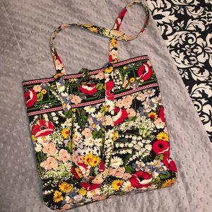Vera Bradley Black Floral Tote Bag